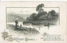 Greetings Postcard - Best Birthday Wishes - Ref ZZ5159