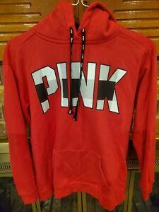 Victoria Secret Pink Red Black Buffalo Plaid Hoodie Size Small Euc