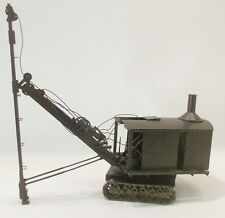 O On3 On30 BRASS CAR WORKS BUCYRUS REVOLVING SHOVEL W/PILE DRIVER BOOM FAC PAINT
