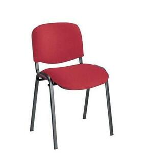 30 x Conference  Stacking Chair Burgundy Fabric (MULTIBUY OFFER)