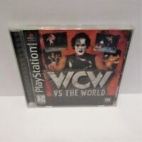 WCW vs. the World (Sony PlayStation 1, 1997) Black Label Complete Tested & Works