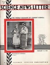 1934 Science Newsletter February 10 - Lion's tooth was first musical instrument