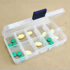 10 Slots Adjustable Storage Box Plastic Case Home Organizer Jewelry Beads Boxes