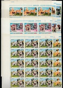 25x ROMANIA MNH 1990 Animals Pets DOGS Full folded sheets Wholesale  [A32
