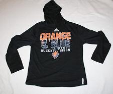 Men Bucknell Bison Black Adidas Climalite Orange & Blue Hoodie Pullover Size M