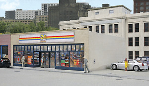 Walthers #933-3477 24 / Seven Quick Mart - building  Kit  HO SCALE   inc Post