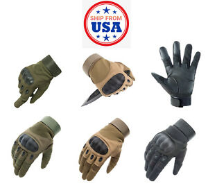 Army Military Tactical Motorcycle Hunt Hard Knuckle Outdoor Full Fingers Gloves