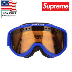 Windproof SUPREME SKI SNOWBOARD GOGGLE GLASSES CARIBOO SMITH Blue FW15 US Seller