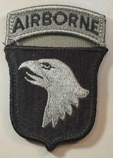 101st AIRBORNE Patch&Tab Subdued on one piece for tactical gear