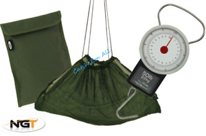 Deluxe Fishing Weighing Sling with Bag & 50lb Scales Carp Coarse Fishing Tackle