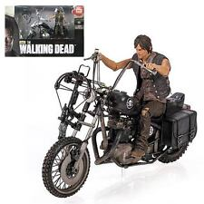 NEW Walking Dead Daryl Dixon Figure & Motorcycle Deluxe Box set