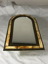 "Beautiful Arch Mirror Classy Moroccan Yellow Camel Bone Wall Decor 13""x7.75"""