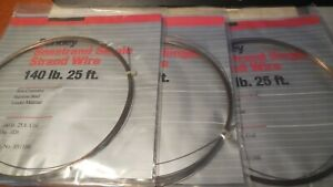 3 Berkley  STAINLESS STEEL LEADER-Single Strand Wire-140LB Test 25FT BROWN