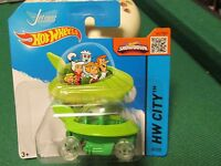 HOT WHEELS 2015 057/250 THE JETSONS CAPSULE CAR NEW ON CARD