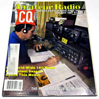 CQ MAGAZINE Jan 1987 HAM/AMATEUR RADIO Kenwood MC-55 Mic/80&160M Receive Antenna