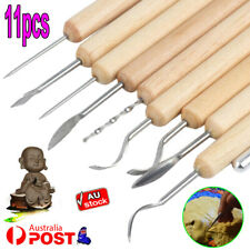 11pcs Carver Clay Sculpting Carving Pottery Tool Polymer Modelling DIY Sculpture