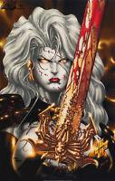 Lady Death Print, Art by Steven Hughes (11x17) - Comic Art