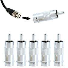 5 Stück BNC Adapter BNC-Buchse zu Cinch-Stecker Video Audio Phono Steckanschlüss