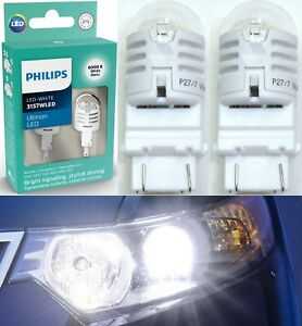 Philips Ultinon LED Light 3157 White 6000K Two Bulbs Front Turn Signal Park Fit