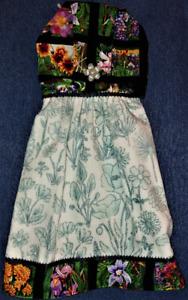 """**NEW** """"Beautiful Wildflowers!"""" Hanging Kitchen Fridge Hand Towel #2414"""