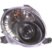 Design Scheinwerfer Set Fiat 500 Bj. 07->> klarglas/schwarz IK5