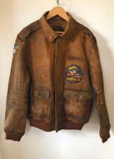 Ralph Lauren  A2  Dark Brown Leather Flight Jacket Aviator Bomber XL NWT $998