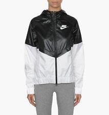 Nike Women's Large Windrunner Black White Jacket 804947-010