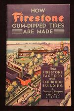 Worlds Fair Chicago 1933 Firestone 16 Page Booklet Factory & Exhibit Bldg. NICE