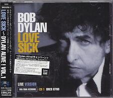 BOB DYLAN DOUBLE CD JAPONAIS + OBI  LOVE SICK   DYLAN ALIVE 1