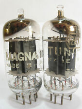 Pair 1959+/- Tung-Sol 12AX7 (ECC83) tubes - 17mmGrayRibbedPlates,Top :[ ] Getter