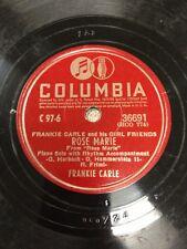 Frankie Carle Rose Marie / Margie Columbia Record 78RPM #36691
