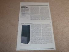 Canton CT-2000 Speaker Review, 1984, 2 pgs, Rare Test