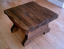 New Hand Made Rustic Side Table - Stained in Jacobean Oak