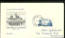 ITALIA BUSTA fdc Capitolium 1959 XX  PATTI LATERANENSI  ANNULLO SPECIALE ROMA