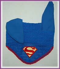 Bonnet anti-mouches Superman   Crocheter main  FABRIQUE EN FRANCE