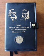 Alcoholics Anonymous AA Big Book & 12 and 12 Deluxe Founders Black  Vinyl Cover