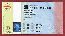 Billete Orig. Juegos Olímpicos Barcelona 1992-tenis/02.08. muy RARO!!!