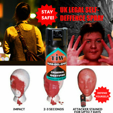SELF DEFENCE SPRAY | Red Dye Farb Gel Criminal Identifier | Non Toxic UK Legal