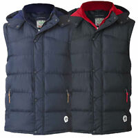 Mens Gilet D555 Duke Bodywarmer Big King Size Padded Quilted Hoodie Winter New