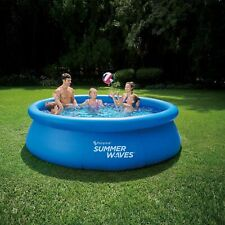 """New listing Summer Waves 10'x30"""" Quick Set Inflatable Above Ground Pool [w/ Filter & Pump]"""