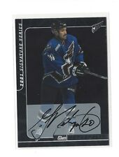 2000-01 BAP SIGNATURE SERIES GLEN METROPOLIT ON CARD AUTO #101 CAPITALS