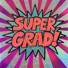 Papyrus Graduation Card Fabulous Embroidered Pop  - Super Grad!  Retails $9.95