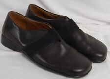 Josef Seibel Black Leather Slip-On Dress Shoes Women's US 6.5 Euro 37