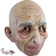 *Latex Chinless Old Man Grandad Senior Mask Bald Horror Fancy Dress Halloween*