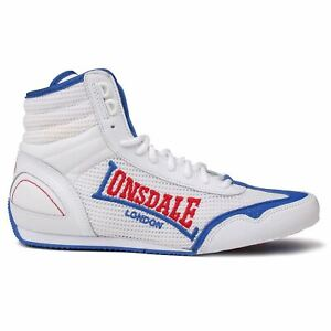 Lonsdale Mens Contender Boxing Boots Full Lace Up Wrestling Shoes Lightweight