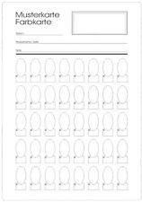 1 Musterkarte mit 40 Ovalen Feldern. DIN A5 für Nagellack, Farbgel Glittergel