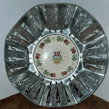 Faber and Shlevin Inc. Aluminum And Porcelain Basket
