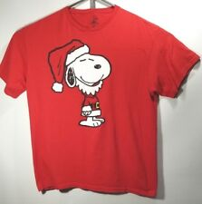 Peanuts Red Snoopy Christmas Tee-Shirt Size Xl