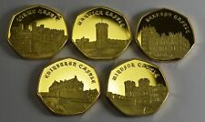 More details for superb full set of 2019 castle series commemoratives. 24ct gold. collectable