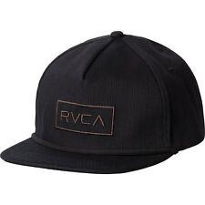 NWT Men's RVCA Witz Adjustable Snapback Hat Cap Black 5-Panel Skate MMA